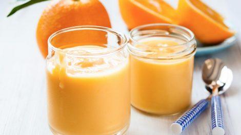 Receta de Mousse de naranja con papaya