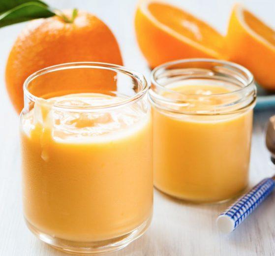 Mousse de papaya con naranja