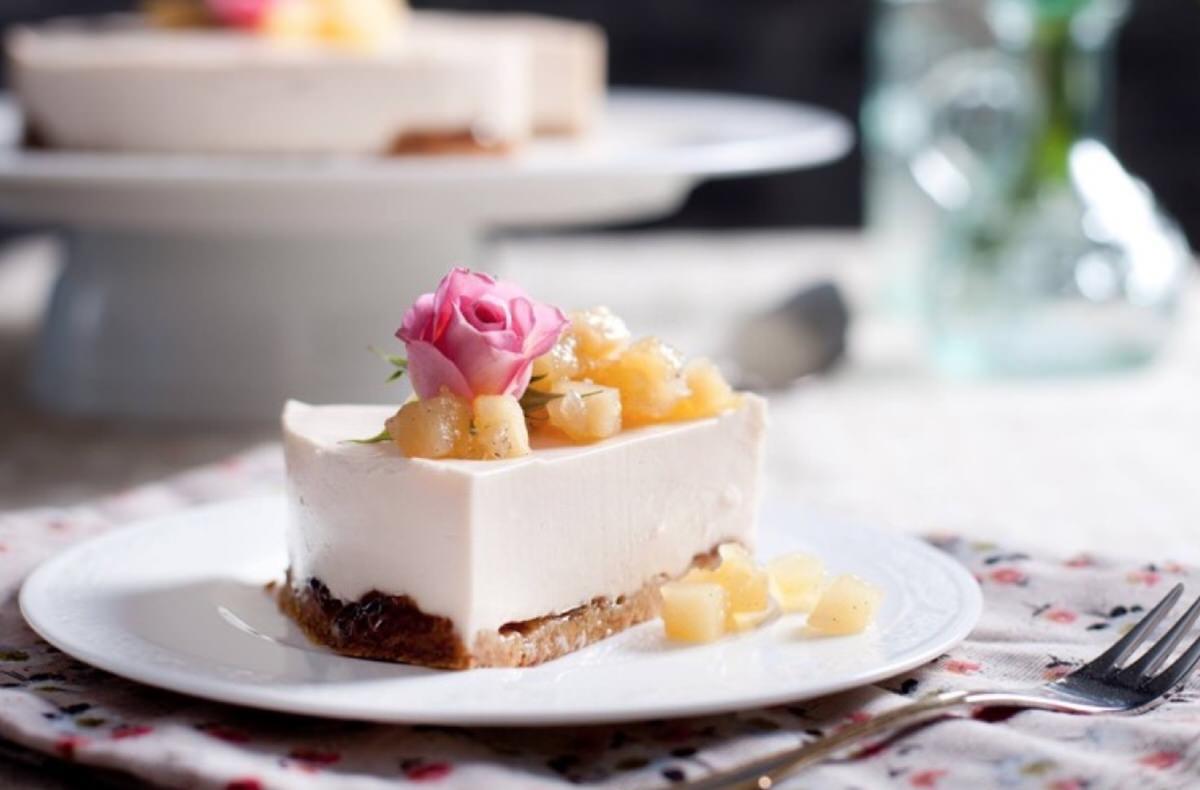 Receta de pastel de queso fresco y manzana