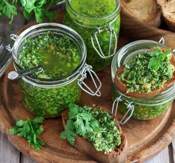Salsa de pesto de cilantro