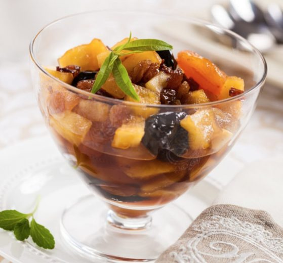 Compota de frutas de otoño