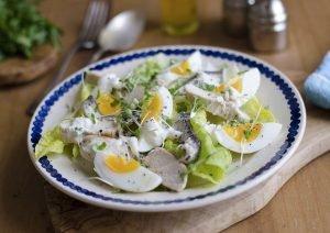 Cómo hacer ensalada de pollo y anchoas