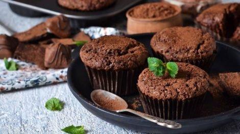 Cómo hacer magdalenas de chocolate y menta