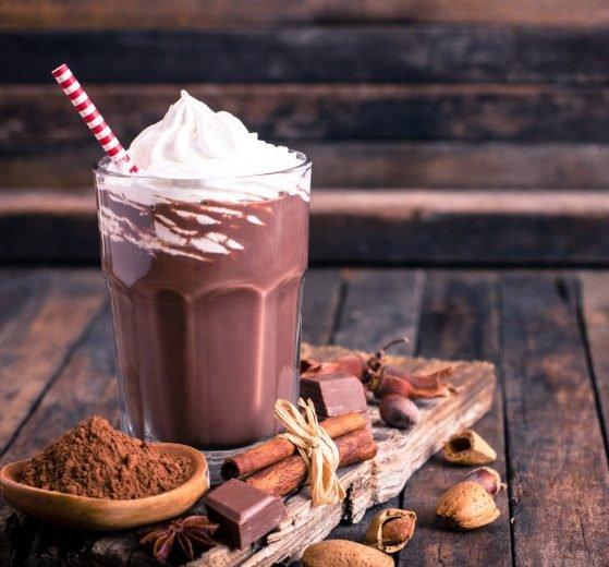 Batido de chocolate y nata