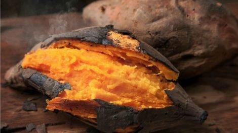 Boniato asado al horno