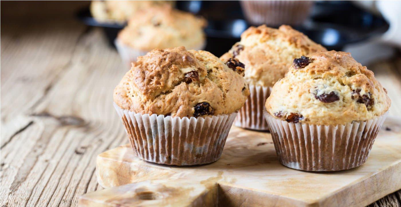 Receta de Muffins de avena y pasas