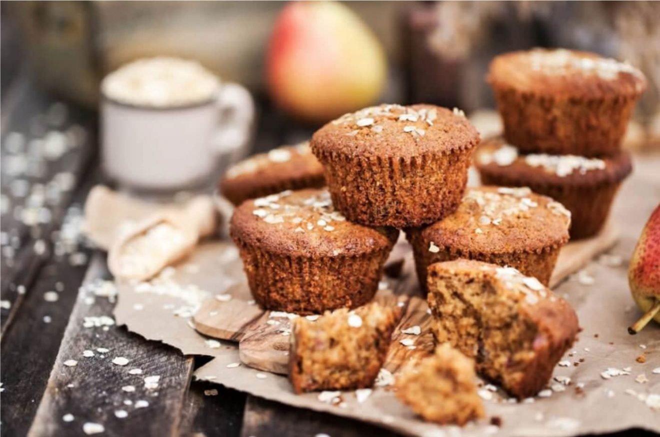 Muffins de trigo integral