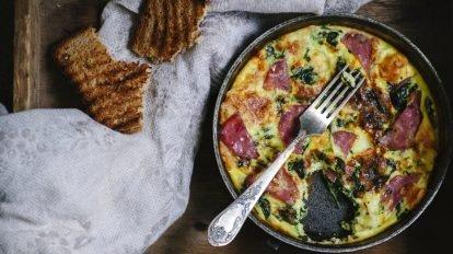 Receta de Frittata de bacon y ricota al horno