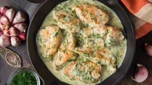 Cómo hacer Pechugas de pollo con nata