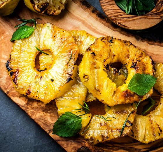 Cómo asar piña fácilmente (fruta)