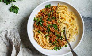 Cómo hacer Salsa boloñesa vegana