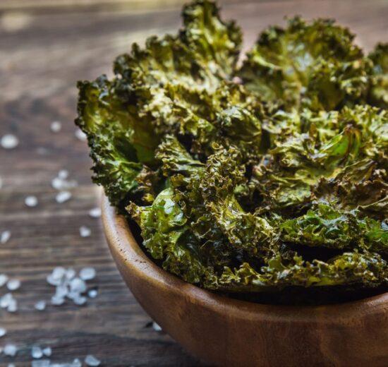 Cómo preparar chips de kale