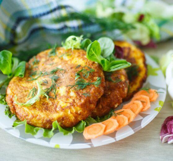 Hamburguesitas de zanahoria y patatas