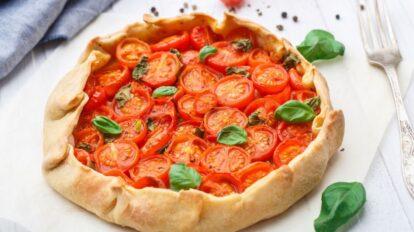 Cómo preparar una tarta de hojaldre de tomates cherry