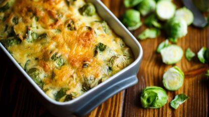 Cómo preparar coles de bruselas gratinadas