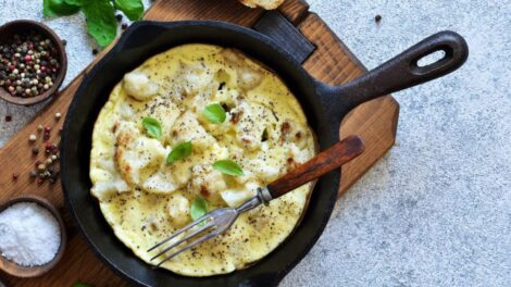 Cómo preparar tortilla de coliflor