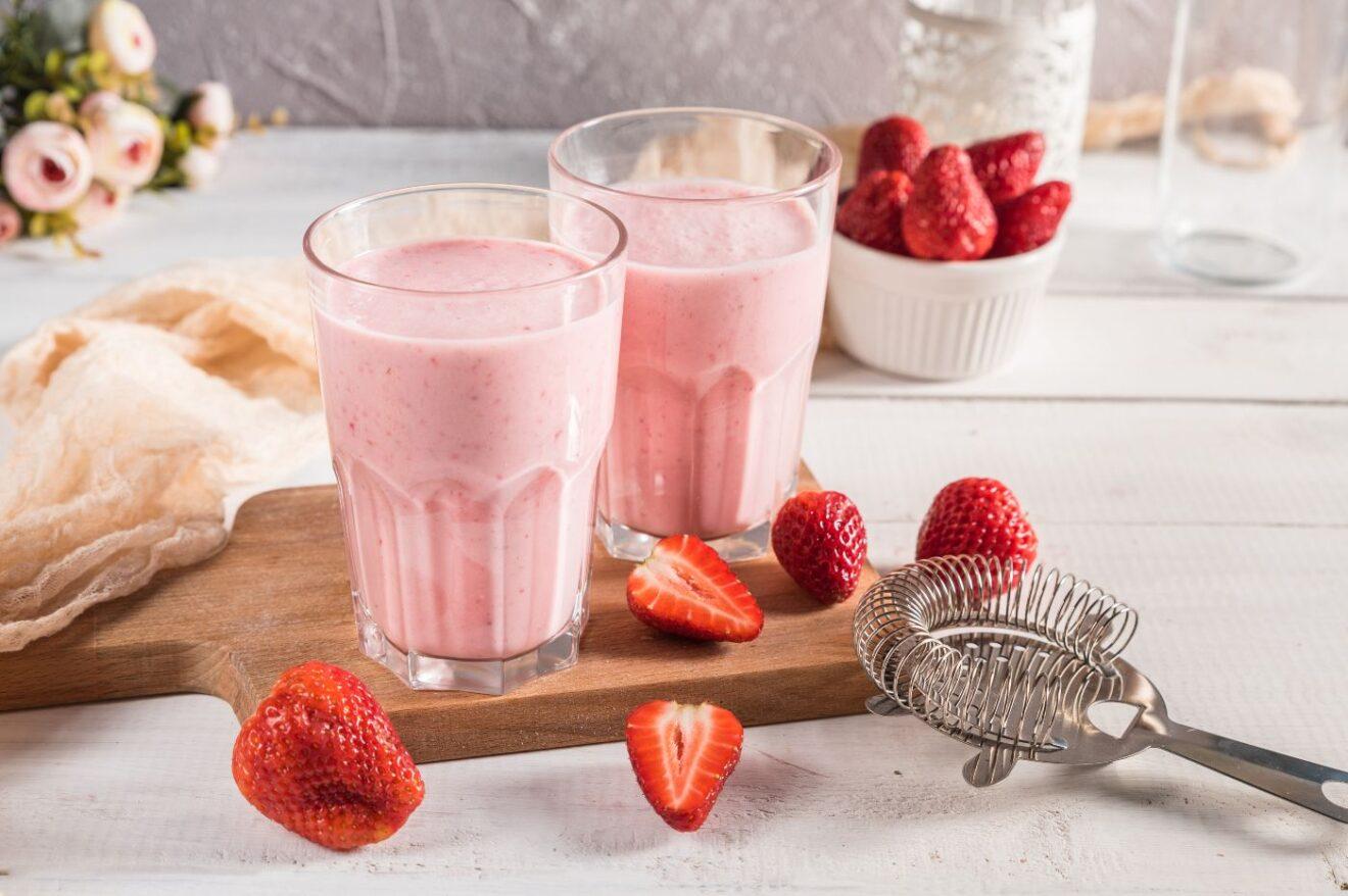 Cómo hacer Batido de fresas refrescante