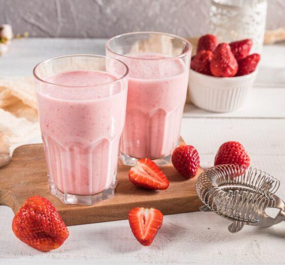 Batido de fresas refrescante