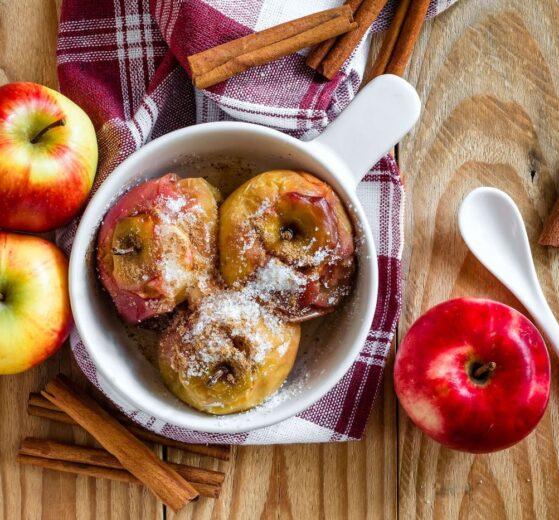 Frutas variadas al horno