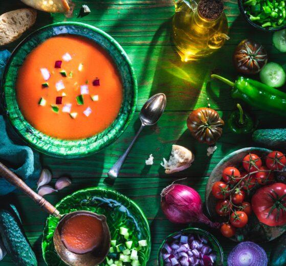 Gazpacho andaluz tradicional