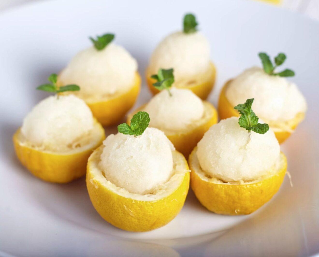Receta de Sorbete de limón