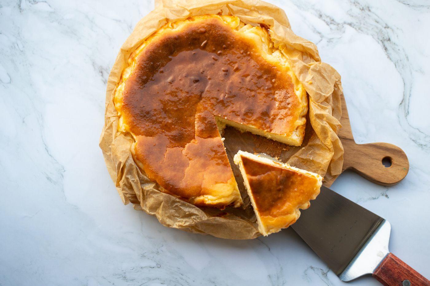 Tarta de queso vasca La Viña